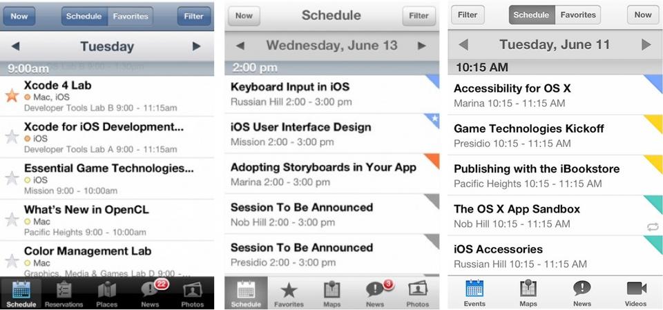 Comparação do app de 2011 a 2013 - Imagem: Yuize/Twitter