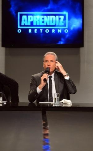 Roberto Justus em coletiva - Divulgação