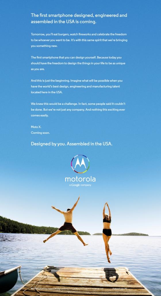 Anúncio Motorola