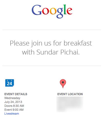 Convite Google