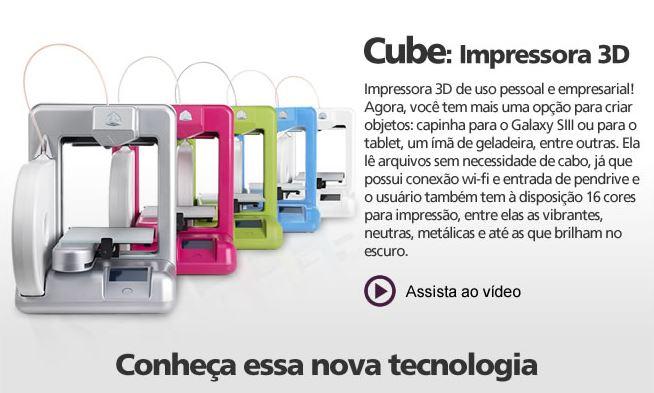 cube impressora 3d