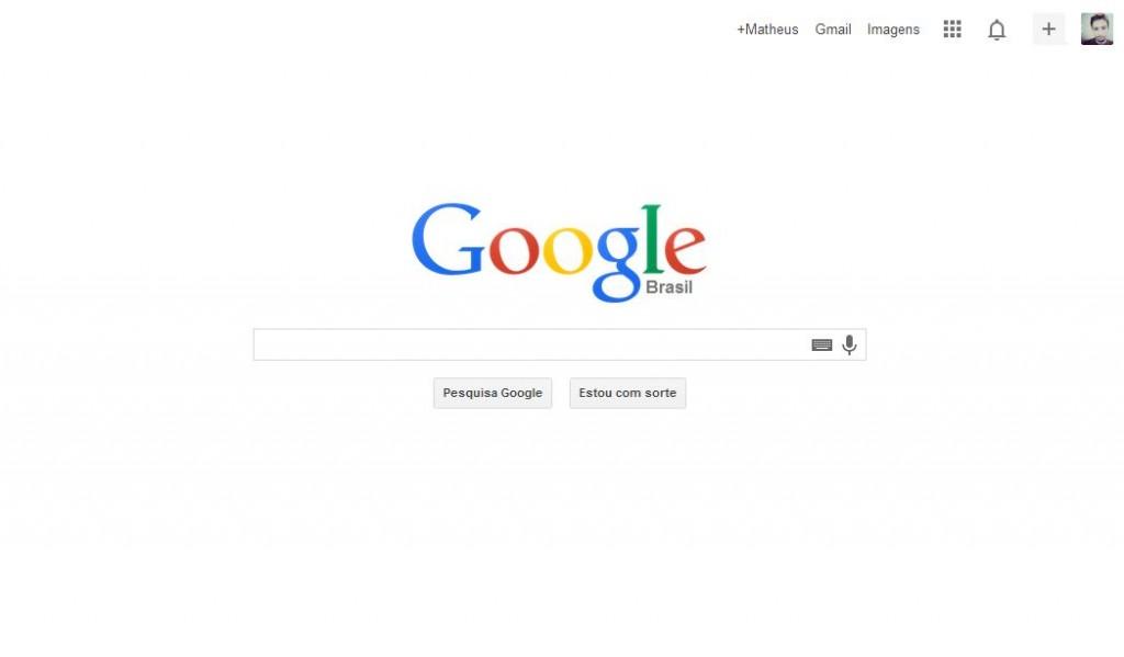 pagina inicial google flat design