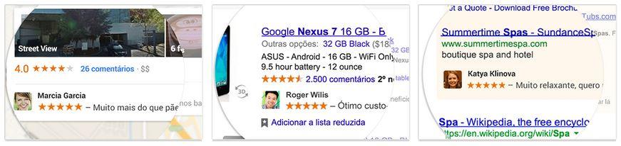 recomendações com foto e nome google ads