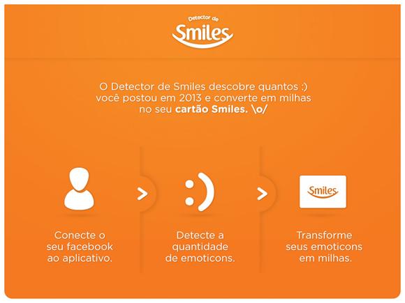 Smiles cria app para Facebook que converte emoticons felizes em milhas