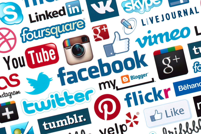 Social Media Logotype Background