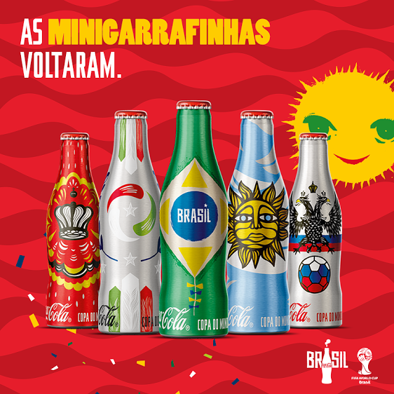Coca-cola traz de volta as nostálgicas Minigarrafinhas