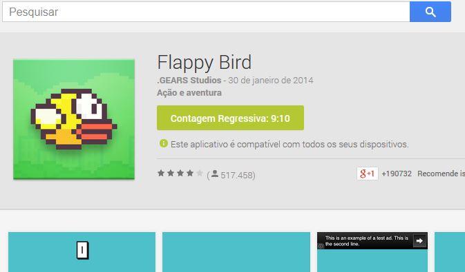 Flappy Bird Contagem Regressiva