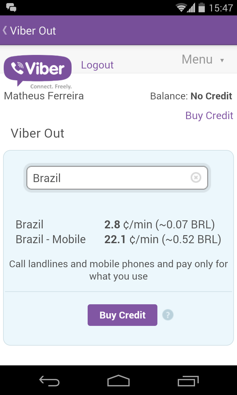 Viber Custo Ligação Brasil