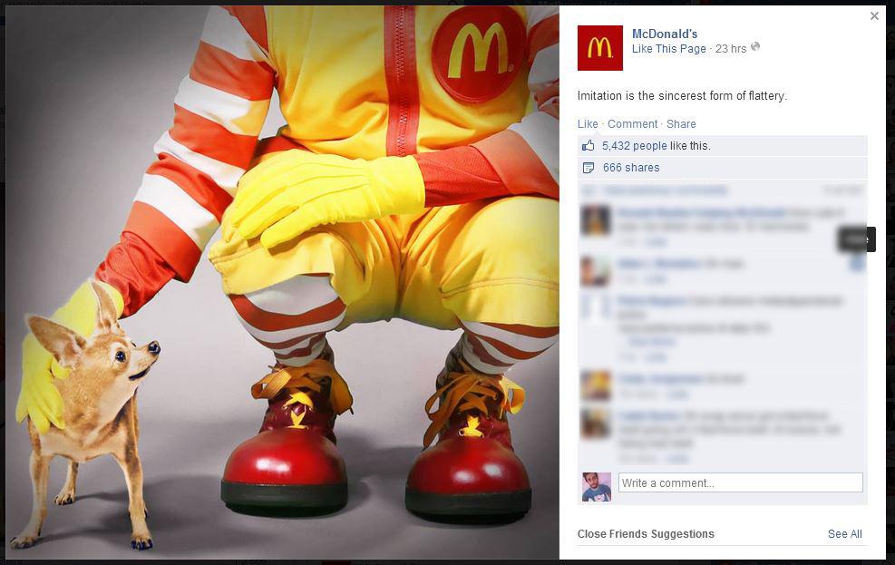 Mc Donalds resposta Taco Bell