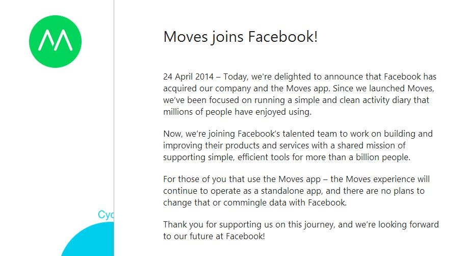 Moves Facebook