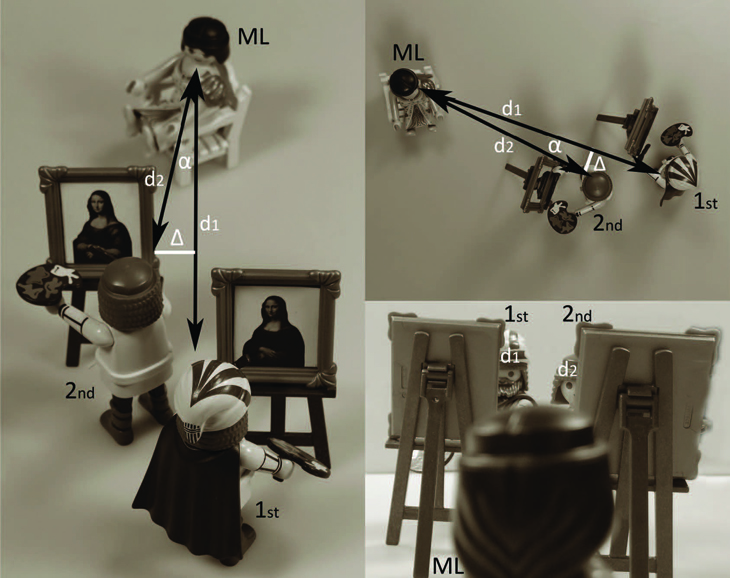 Playmobil Perspective reconstruction Monalisa