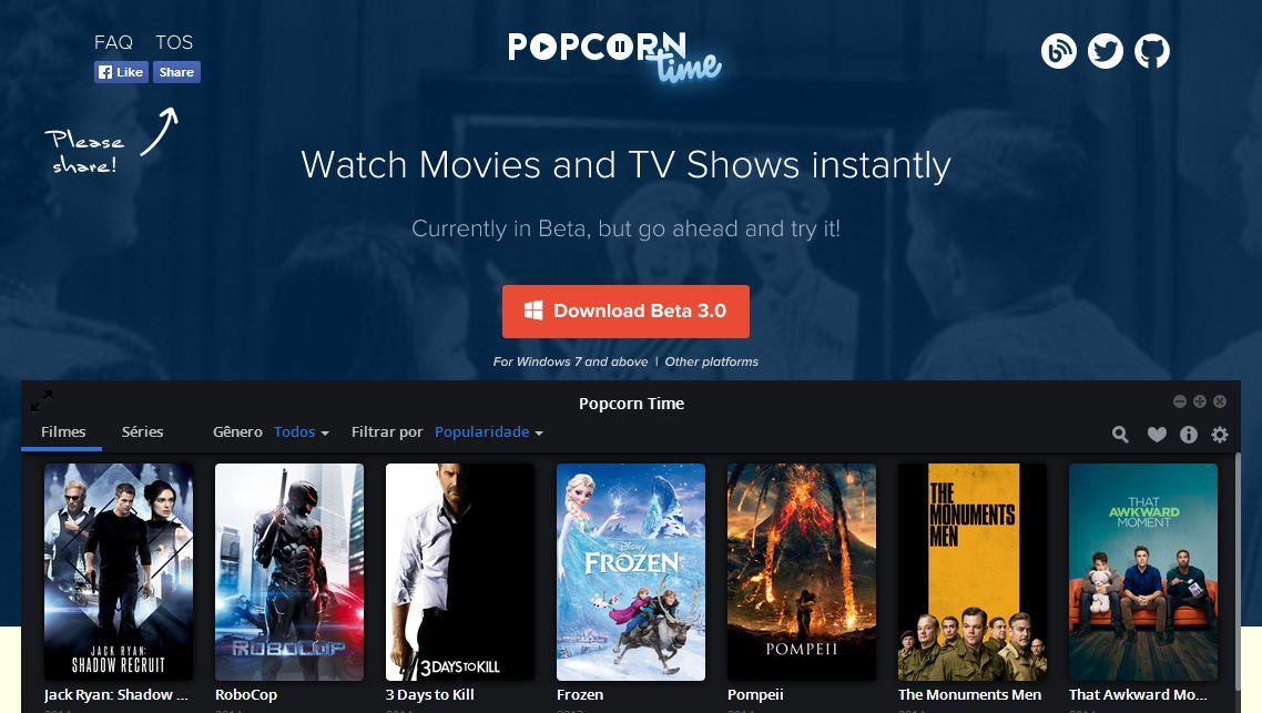 Popcorn time site-app