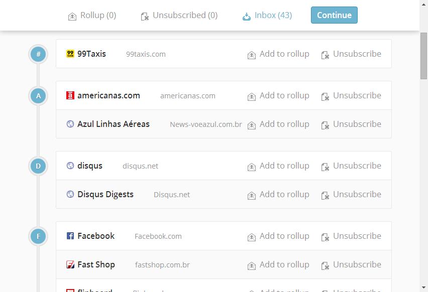 Edit Inbox Subscriptions – Unroll.me