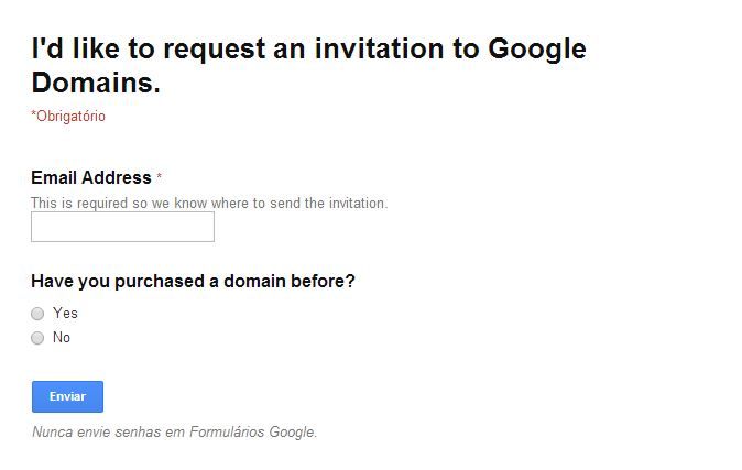 Invitation Code Google Domains
