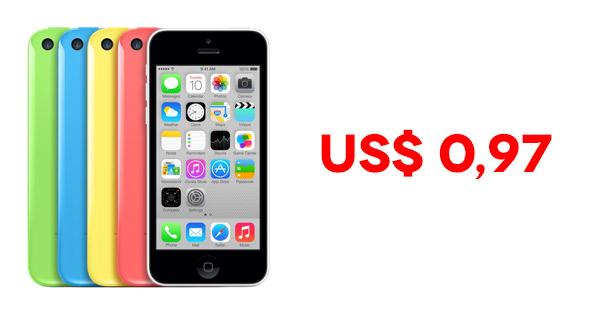 Nos Estados Unidos, Walmart vende iPhone 5C por menos de 1 dólar