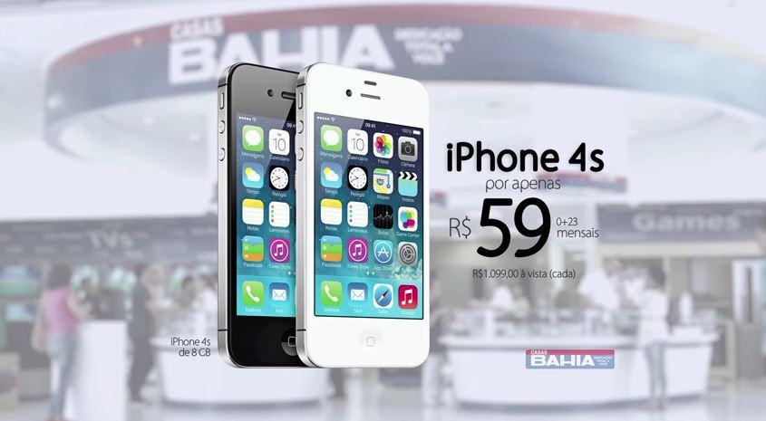 Em parceria com Apple, Casas Bahia oferece iPhone 4S em inacreditáveis 23 vezes de R$ 59