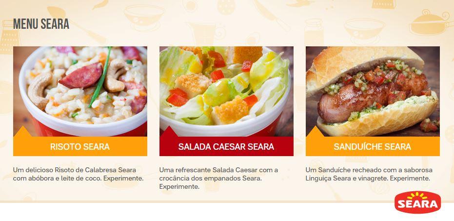 menu-seara-risoto-salada-caesar-sanduiche-reproducao-blog-geek-publicitario