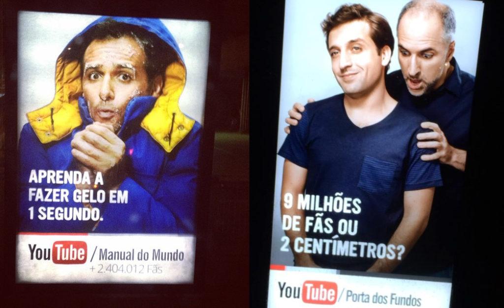 YouTube bombardeia São Paulo com campanha de mobiliário urbano e comprova importância de uma campanha 360