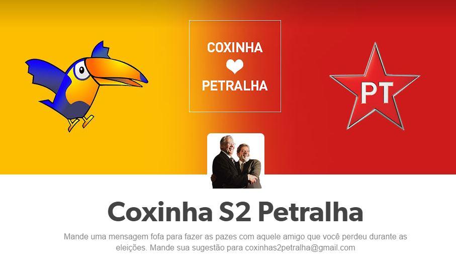 Coxinha s2 Petralha: um Tumblr pra resgatar as amizades depois das eleições