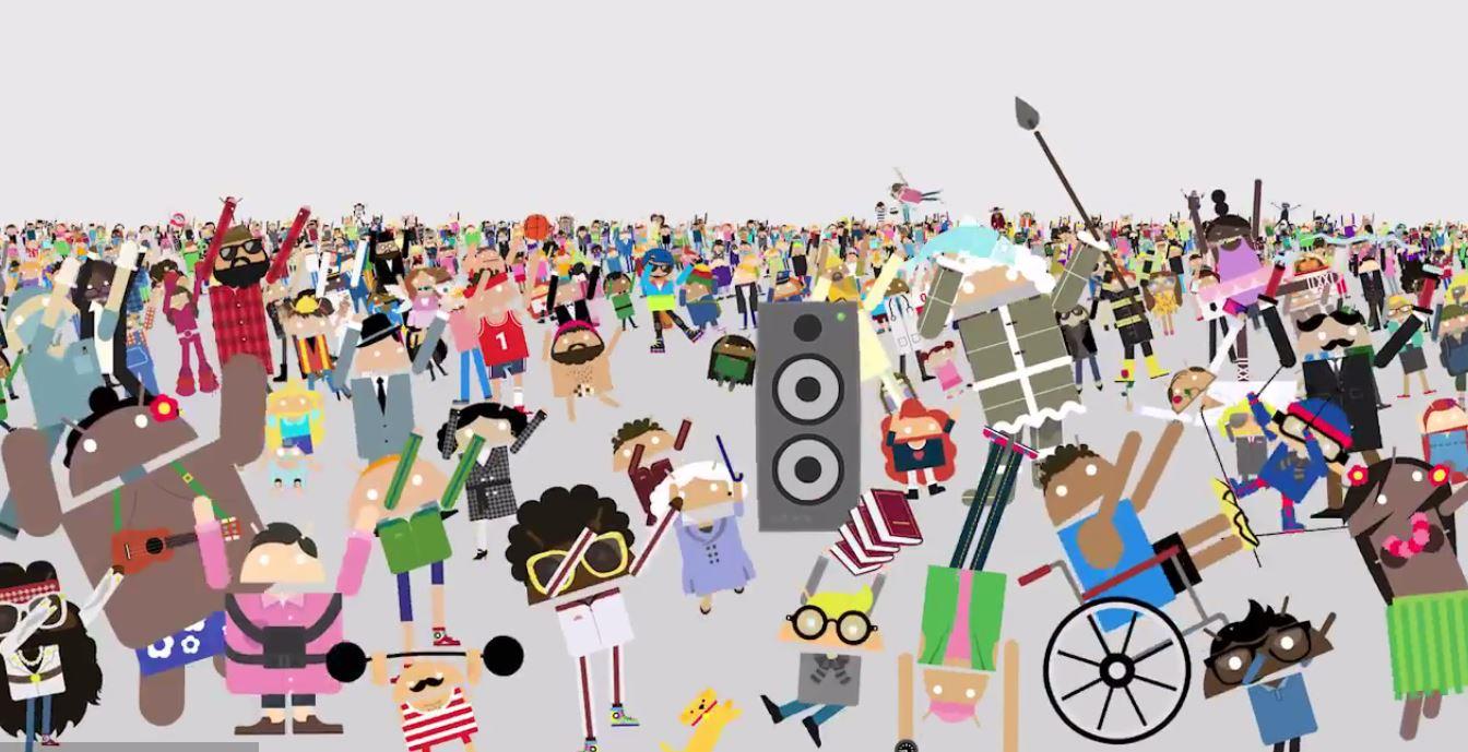 google-anuncios-android-juntos-mas-nao-iguais-multidao-destaque-blog-geek-publicitario