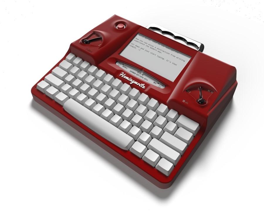 hemingwrite-maquina-de-escrever-tela-e-ink-vermelha-mockup-3d-blog-geek-publicitario