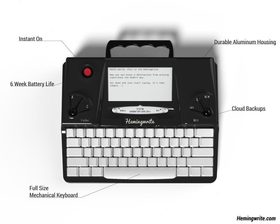 hemingwrite-maquina-de-escrever-tela-e-ink-wi-fi-blog-geek-publicitario-destaque