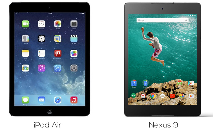 ipad-air-vs-nexus-9-imagem-comparacao-tablets-google-apple-blog-geek-publicitario