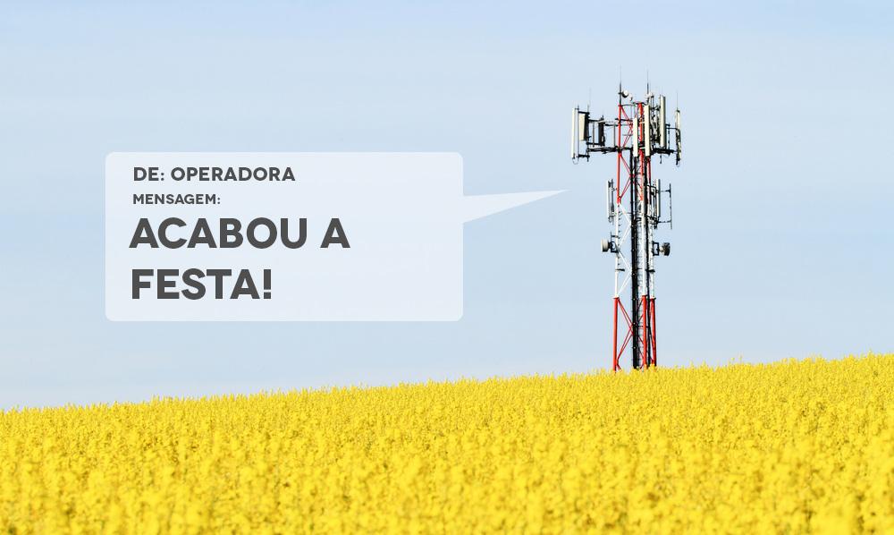 Ao invés de reduzir a velocidade, operadoras querem cortar sua internet móvel quando o limite de tráfego for atingido