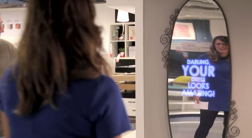 querida-seu-vestido-esta-incrivel-espelho-motivacional-ikea-blog-geek-publicitario-propaganda-tecnologia