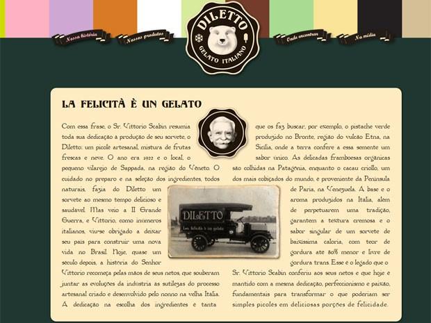Antigo site mencionava história fantasiosa a respeito da criação da empresa.