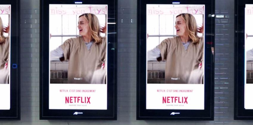 Netflix lança campanha outdoor com GIFs de filmes e séries na França