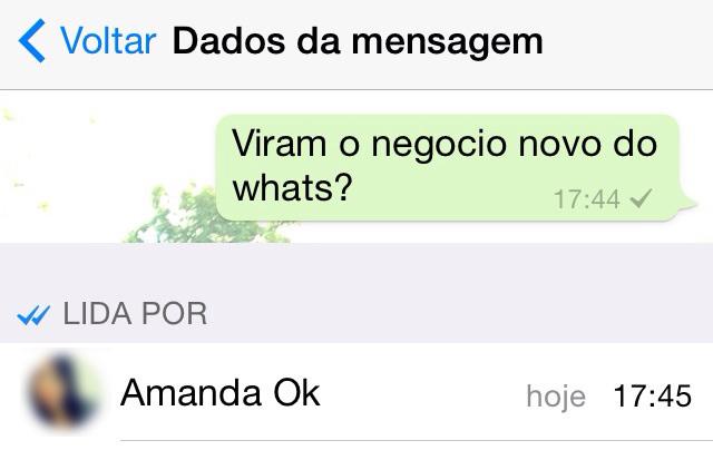 Acabaram as desculpas: Whatsapp passa a avisar mensagens lidas com tick azul