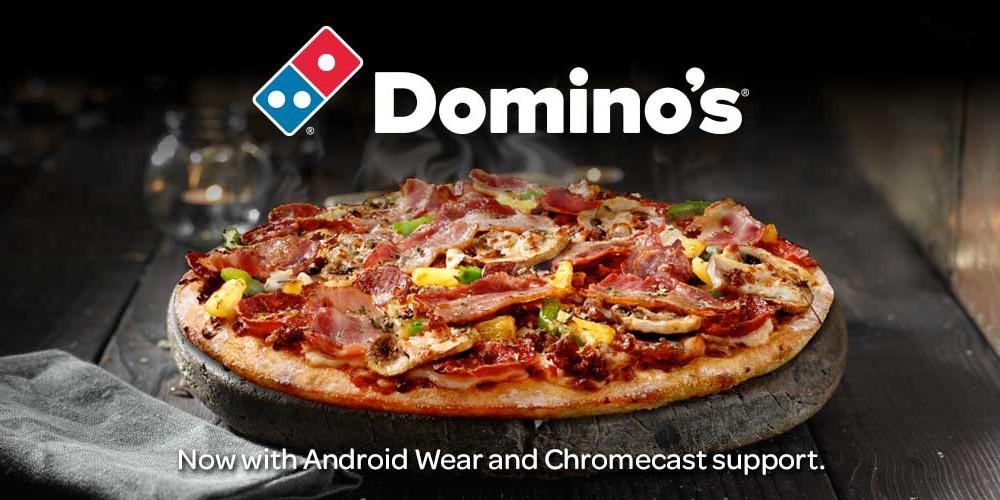 Domino's oferece aos clientes opção de acompanhar entrega através de Chromecast e Android Wear