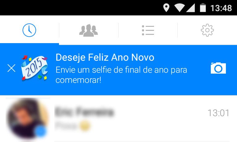 O Facebook quer te ajudar a fazer uma selfie de Ano-Novo
