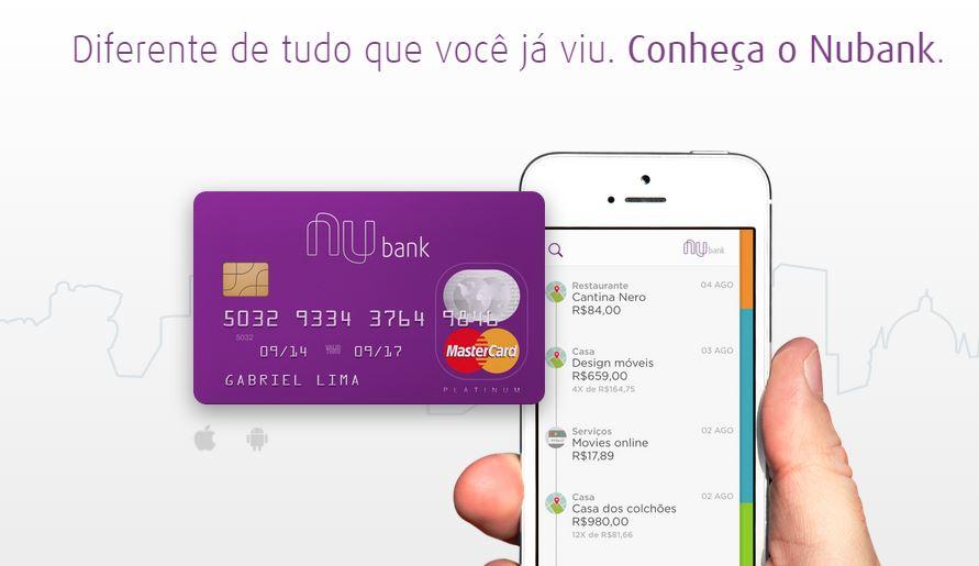 Nubank é um cartão de crédito hi-tech e sem burocracia como todos deviam ser