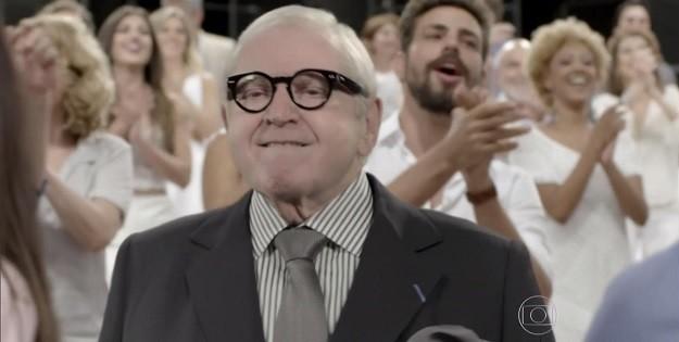 Imagens de Faustão e Jô no vídeo de fim de ano da Globo são montagens