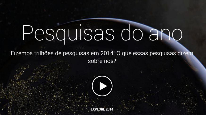 Este vídeo sensacional é a retrospectiva do Google para as buscas em 2014