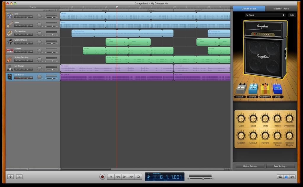 Garage Band, da Apple, costuma fazer sucesso com os usuários da Maçã.
