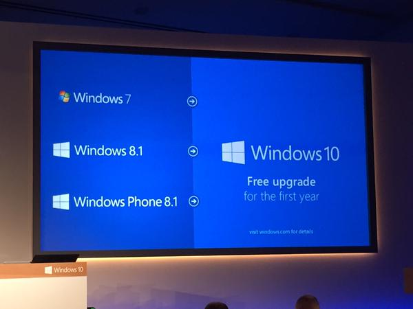 Windows 10 será gratuito para utilizadores do Windows 7(!) e 8.1