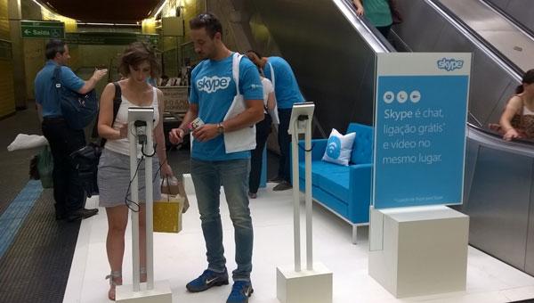 Microsoft promove ação de divulgação do Skype em SP