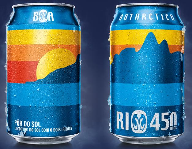Antarctica lança latas de cerveja em comemoração aos 450 anos do Rio