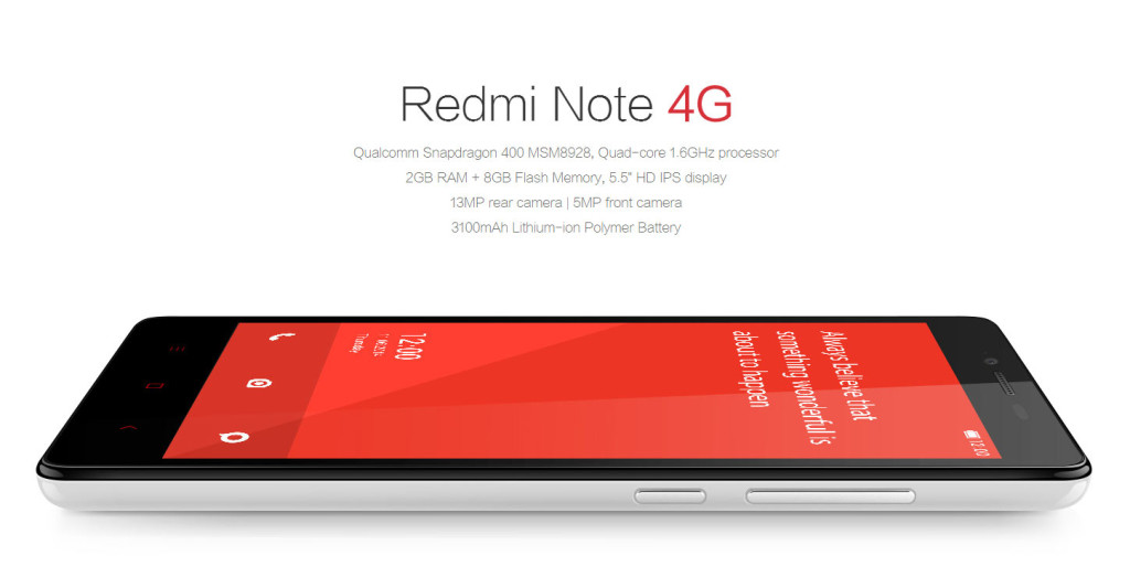 Redmi Note 4G já foi homologado pela Anatel e deve ser o primeiro lançamento da chinesa por aqui.