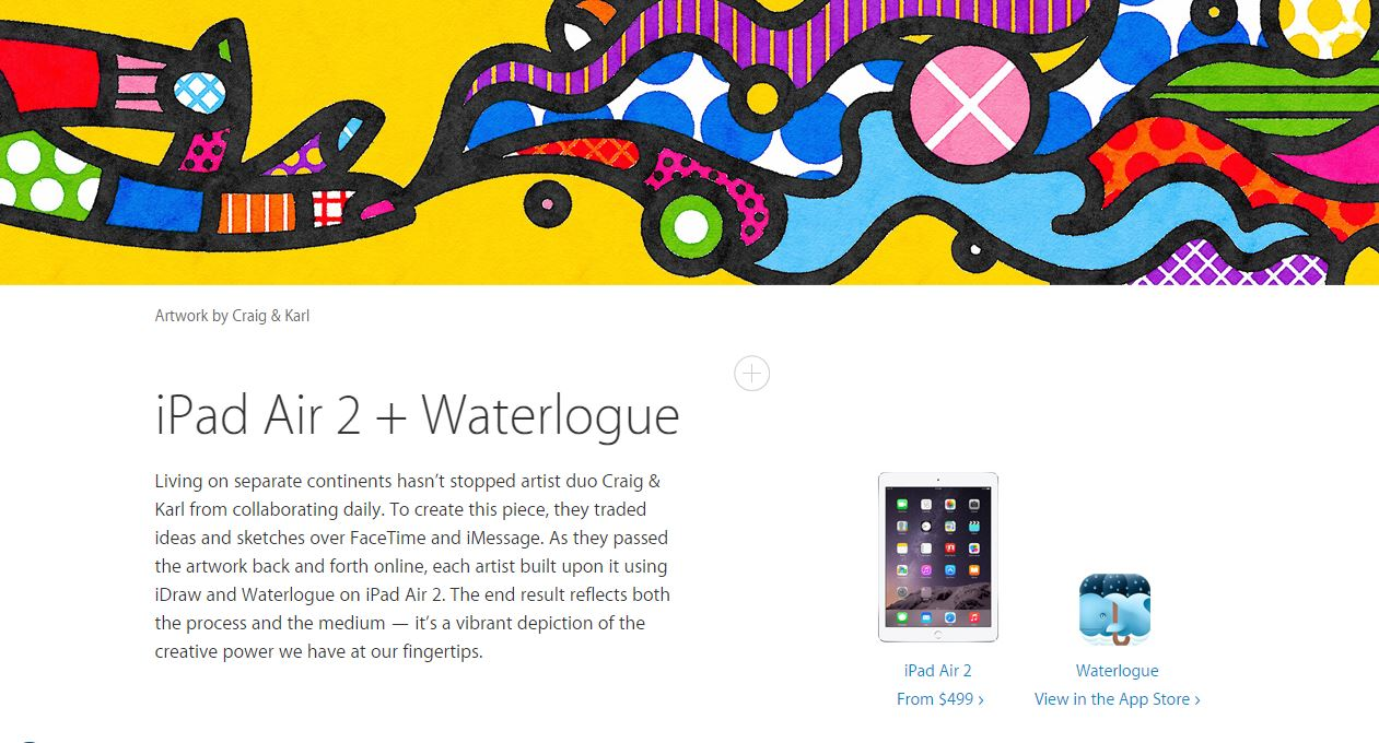 ipad-air-2-waterlogue-ilustracao-romero-britto-processo-apple-blog-geek-publicitario