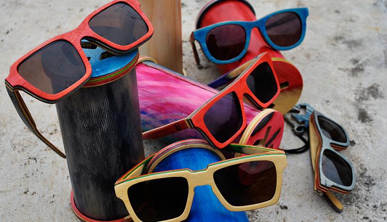 Remake Sunglass: conheça os óculos feitos com madeira de shape de skate