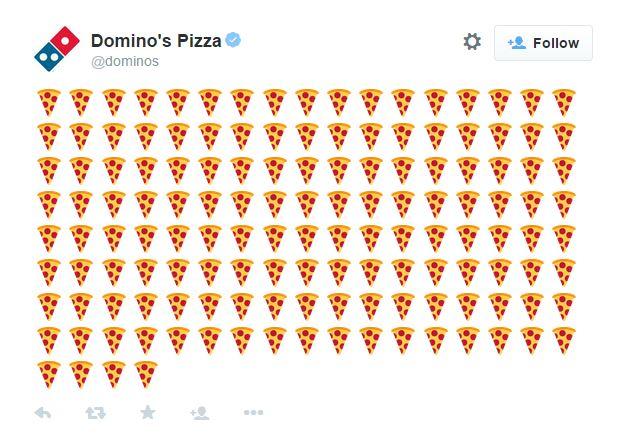 Domino's permitirá que clientes peçam pizzas postando um emoji no Twitter