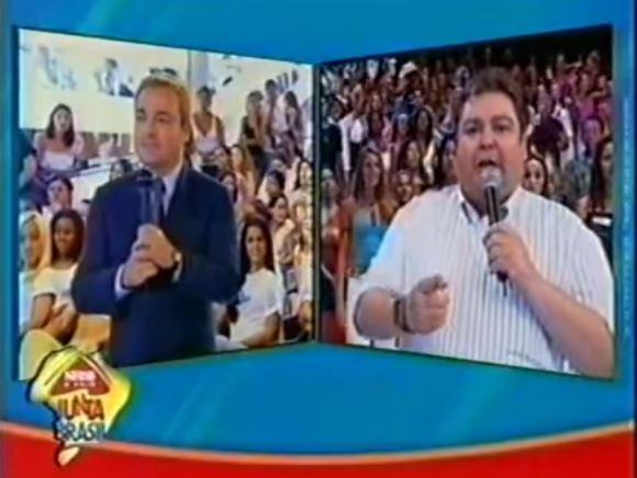 O dia em que a Nestlé uniu Faustão e Gugu ao vivo na TV