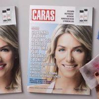 Lenços removem maquiagem da capa da Caras em ação da Neutrogena