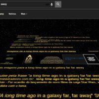 Google exibe resultado de busca no formato da abertura de Star Wars