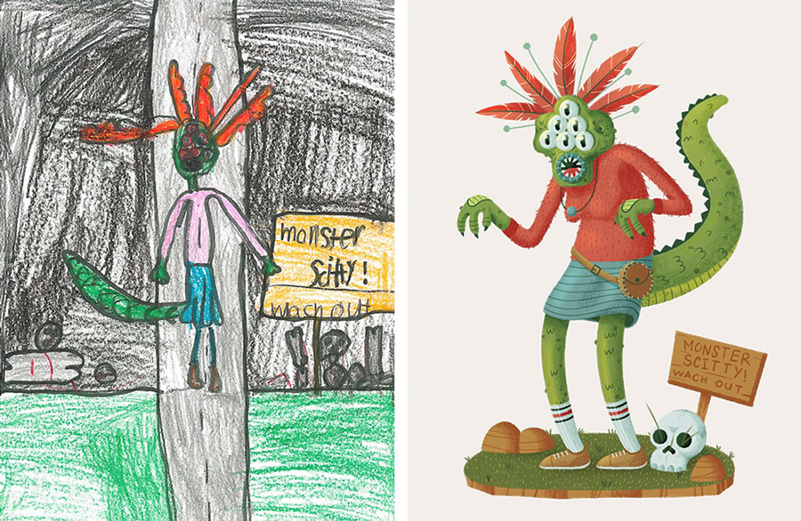 the-monster-project-1-desenhos-criancas-ilustracoes-incriveis-blog-geek-publicitario