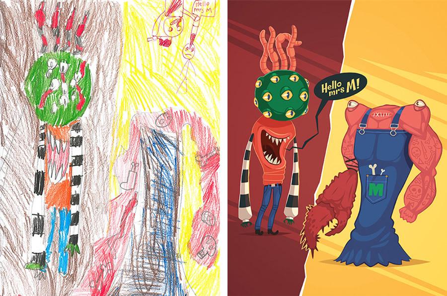 the-monster-project-10-desenhos-criancas-ilustracoes-incriveis-blog-geek-publicitario